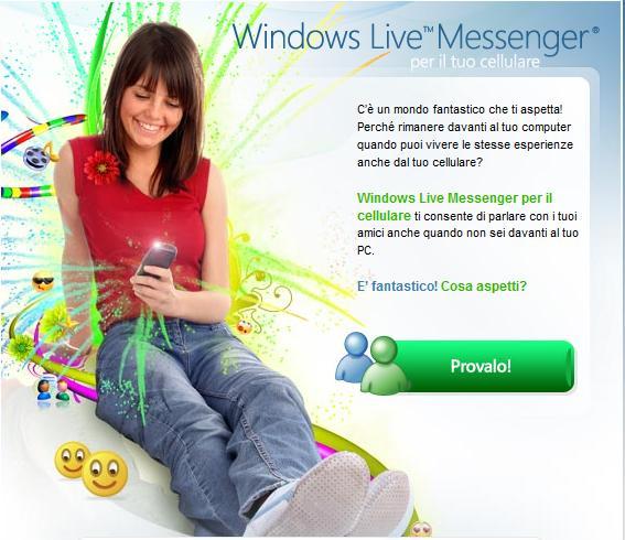 Windows Live Messenger per il cellulare