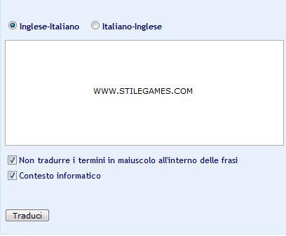 Translator Italiano