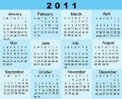 Wallpaper calendario 2011