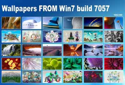 Download 30 WALLPAPER PER Windows 7 Build 7057