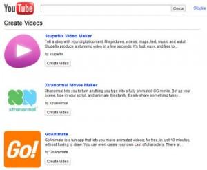 Creare animazioni su Youtube