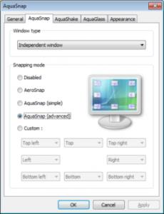 AquaSnap: organizzazione del desktop