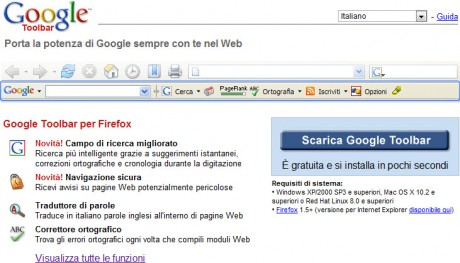 Firefox e Google Toolbar: accordi conclusi
