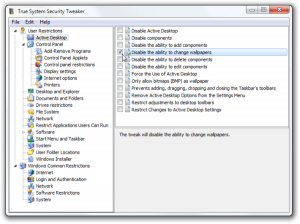 True System Security Tweaker: ottimizzare pc