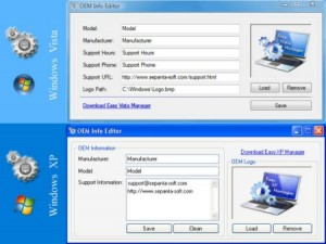 Windows 7 OEM Info Editor
