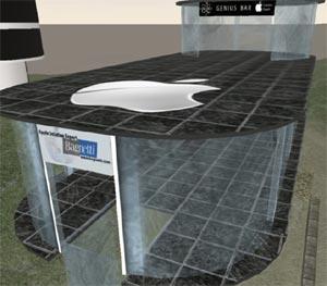 Apple brevetta negozio in stile Second Life