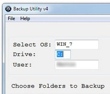 eseguire backup windows