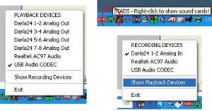 Impostare l'avvio di default di una periferica audio specifica