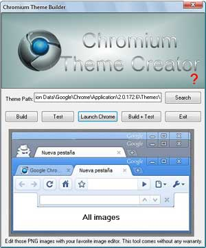 Google Chrome Theme Creator