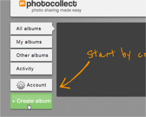 PhotoCollect: creare album fotografici