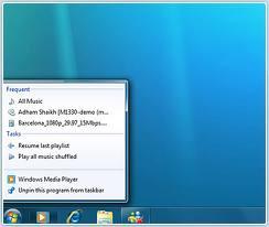 Jump List Windows 7