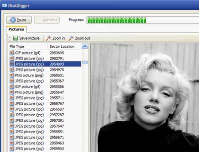 Disk Digger: programma per recupero file