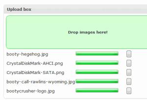 caricare file wordpress con drag and drop