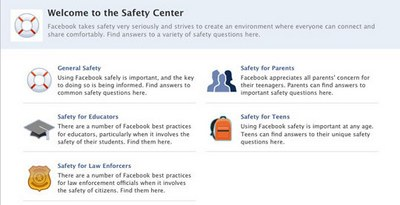 Nuova grafica per Facebook Safety Center