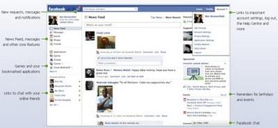 Facebook nuovo design
