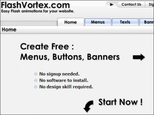 Flashvortex.com: Creare banner in flash