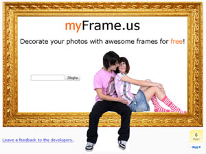 Aggiungere un frame decorativo alle immagini online