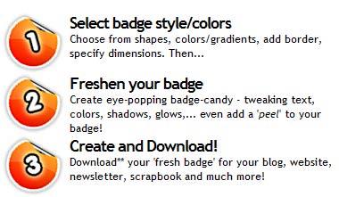 Creare Badge web 2.0 gratuitamente