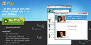 ftalk è un programma Windows che permette di utilizzare la chat Facebook da desktop