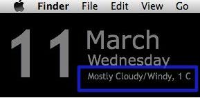 Come visualizzare sul desktop le condizioni meteo in Mac OS X