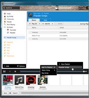 Grooveshark arriva sul desktop