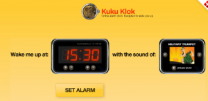 Kuku Klok, imposta la tua sveglia online
