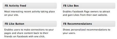 Facebook Like Widgets