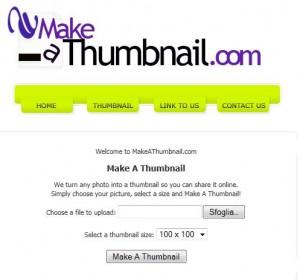 Make A Thumbnail: creare immagini in miniatura