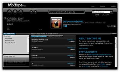 Creare, ascoltare, mixare e condividere una Playlist direttamente sul web