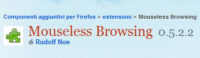 Come usare tutti gli elementi di Firefox senza mouse