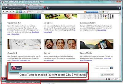 Scarica OperaTurbo : il browser che velocizza le connessioni lente