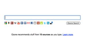 Ozone, estensione di Chrome per ricerche multiple