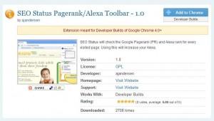 Informazioni SEO su GoogleChrome