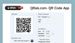 qrals è un servizio per creare codici qr in modo semplice e gratuito