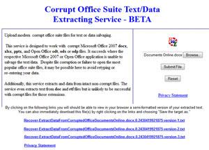 Estrarre/Ripristinare I dati da file  Docx, Xlsx, Pptx Online