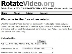 Rotatevideo: ruotare video online