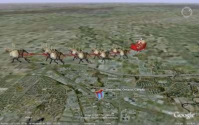 Segui Babbo Natale Nel Suo Giro Attorno Al Mondo Con Google Earth