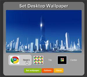 Google Chrome e sfondo desktop