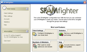 Spam Fighter - Free Microsoft Outlook anti spam tools