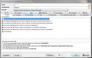 Backup esclusivo con SyncBack