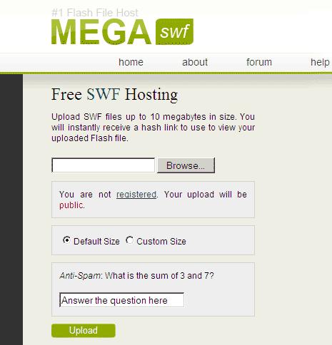 Upload swf files