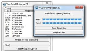 Caricare  Files dal Desktop allo  Scan antivirus