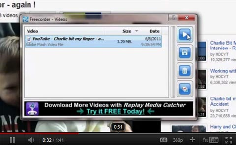 Vixy Freecorder 5: Download Youtube Video