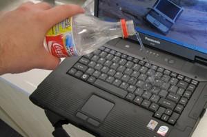 Cosa fare se il computer portatile si bagna o cade in acqua