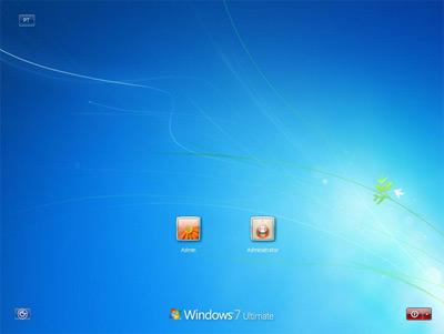 Scarica il Login Screen di Windows 7 build 7057 per Vista