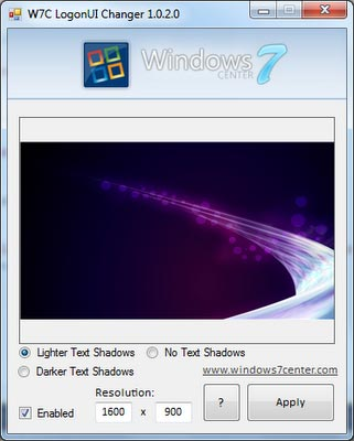 Windows 7 LogonUI Changer