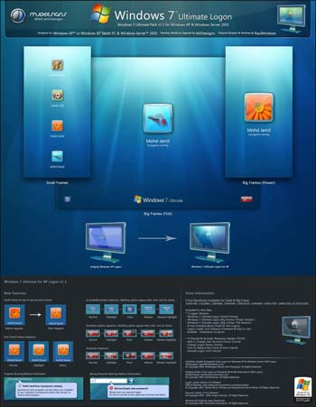 Windows 7 Ultimate Logon Pack per Windows XP & Windows 2003