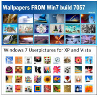 Scarica gratis 30 Wallpapers e 30 Immagini profilo Windows 7 build 7057