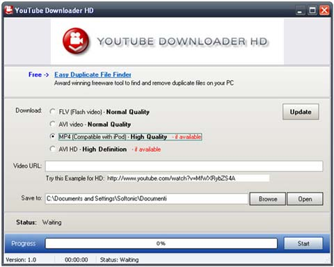 Youtube Downloader Hd: scaricamento in alta definizione di video youtube