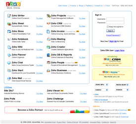 zoho - applicazioni web